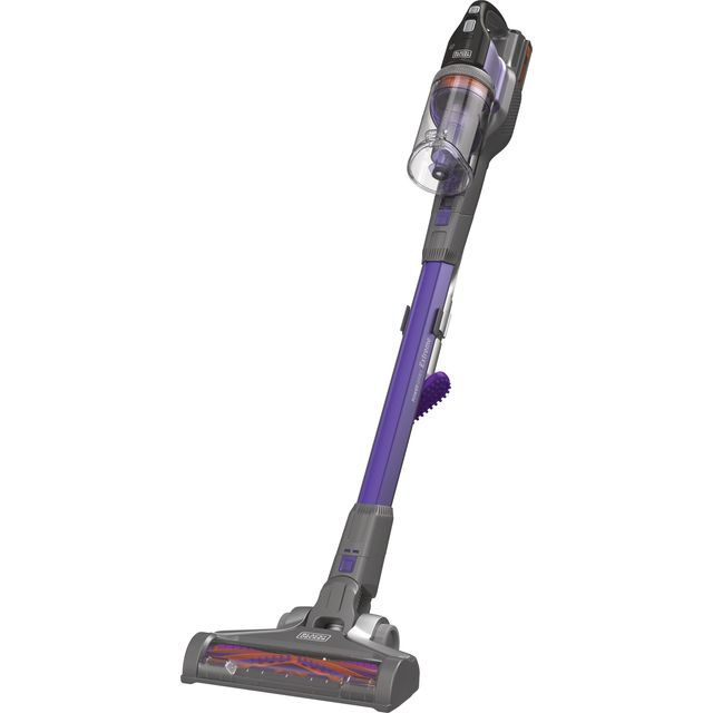 Black + Decker 18v Extension Pet Stick BHFEV182CP-GB Cordless Vacuum Cleaner with up to 58 Minutes Run Time