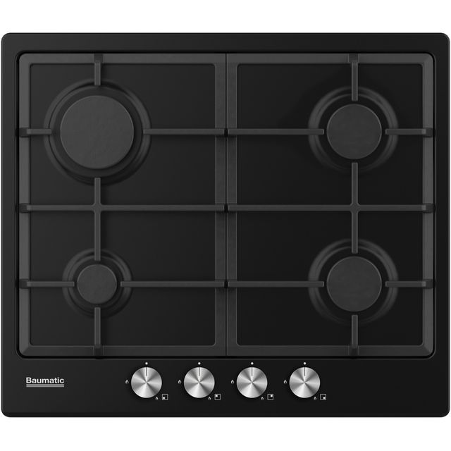 Baumatic BHIG620B Built In Gas Hob - Black - BHIG620B_BK - 1