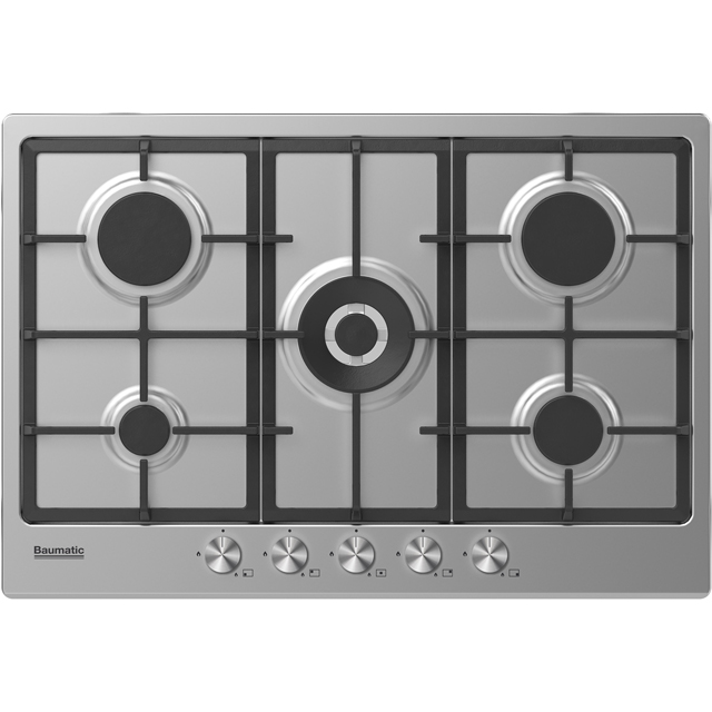 Baumatic BHIG750X Built In Gas Hob - Stainless Steel - BHIG750X_SS - 1
