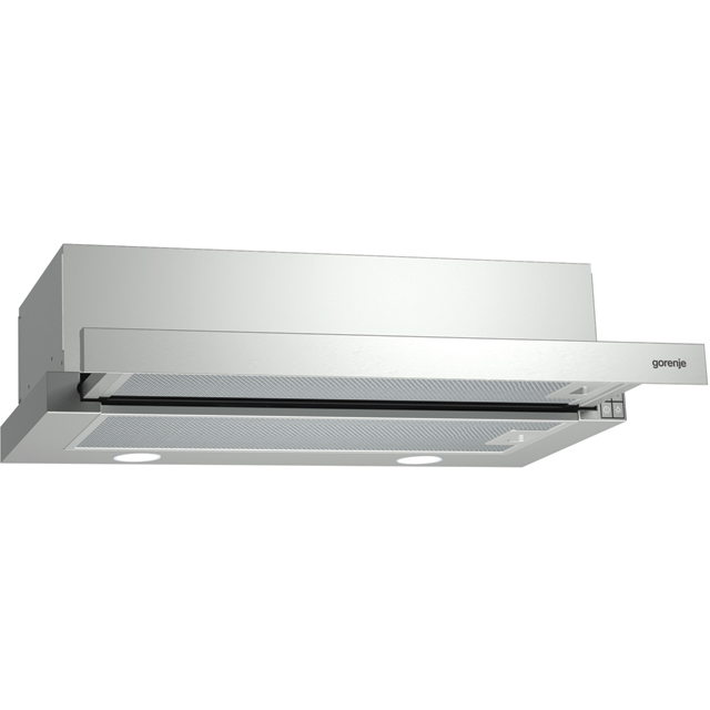 Gorenje BHP623E11XUK 60 cm Telescopic Cooker Hood - Stainless Steel - C Rated - BHP623E11XUK_SS - 1