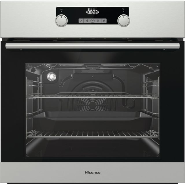 Hisense BI3221AXUK Built In Electric Single Oven - Stainless Steel - A Rated - BI3221AXUK_SS - 1