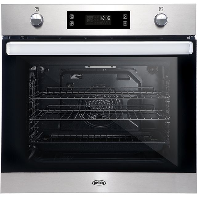 Belling BI602MFPY Built In Electric Single Oven - Stainless Steel - A Rated - BI602MFPY_SS - 1
