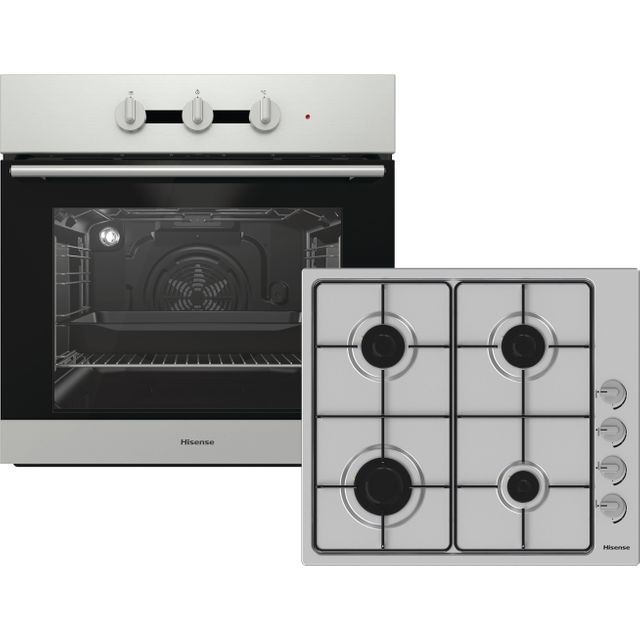 Hisense BI6031GSUK Built In Electric Single Oven and Gas Hob Pack - Stainless Steel - A Rated