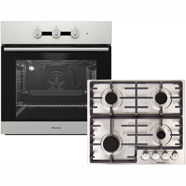 Hisense BI6031GXUK Integrated Oven & Hob Pack in Stainless Steel