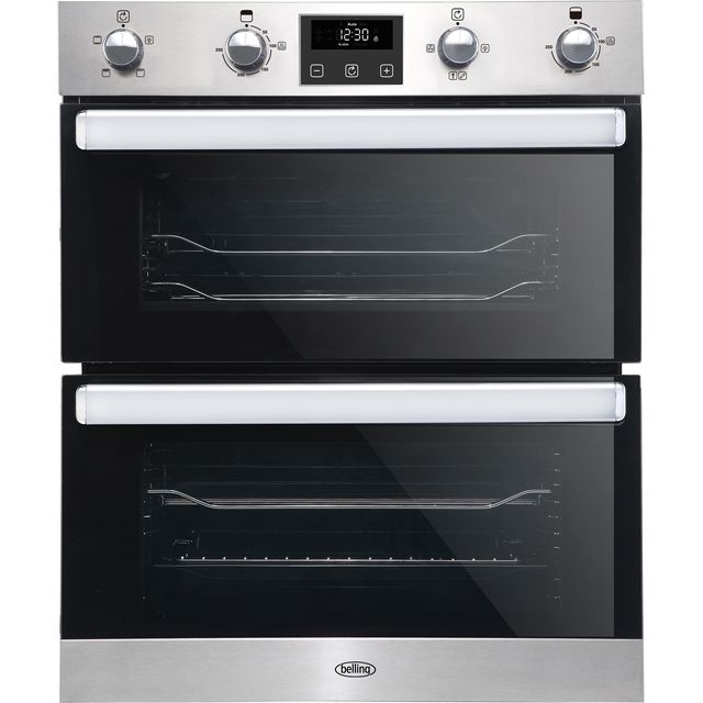 Belling BI702FPCT Built Under Electric Double Oven - Stainless Steel - BI702FPCT_SS - 1