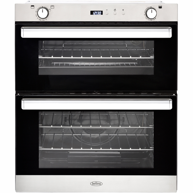 Belling BI702G Built Under Gas Double Oven - Stainless Steel - BI702G_SS - 1