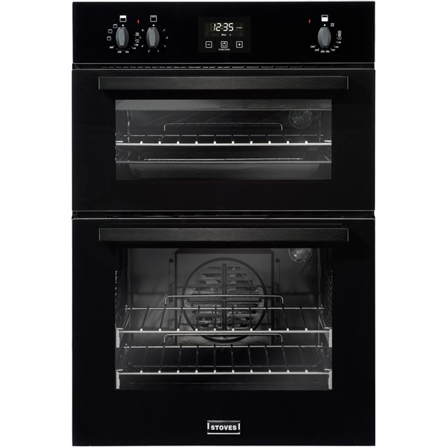 Stoves BI900EF Built In Double Oven - Black - A/B Rated