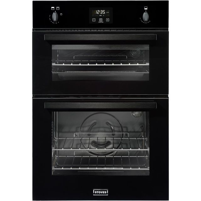 Stoves BI900G Built In Double Oven - Black - A/A Rated