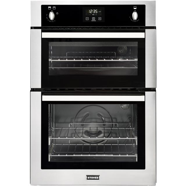Stoves BI900G Built In Gas Double Oven - Stainless Steel - BI900G_SS - 1
