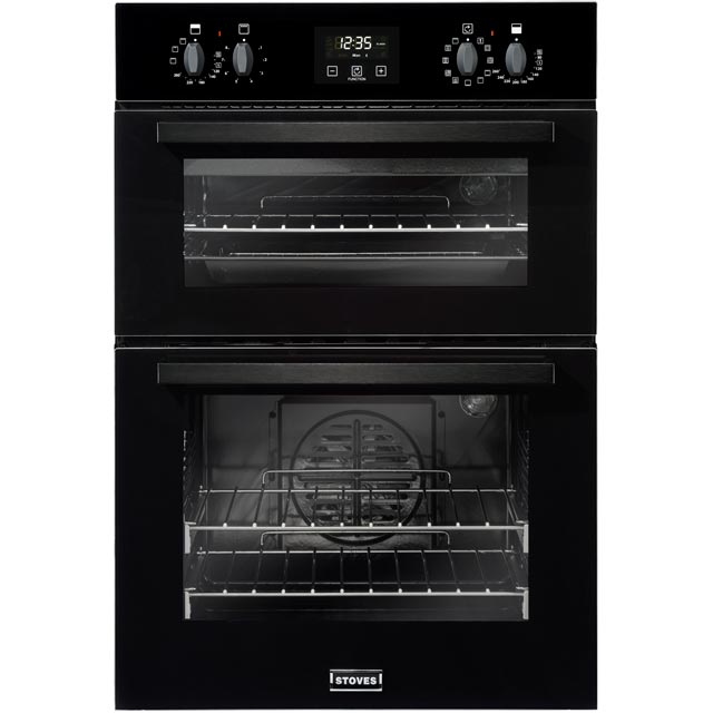 Stoves BI900MF Built In Double Oven - Black - A/B Rated - BI900MF_BK - 1