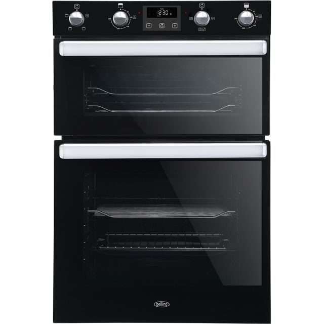 Belling BI902FP Built In Double Oven - Black - A/A Rated - BI902FP_BK - 1