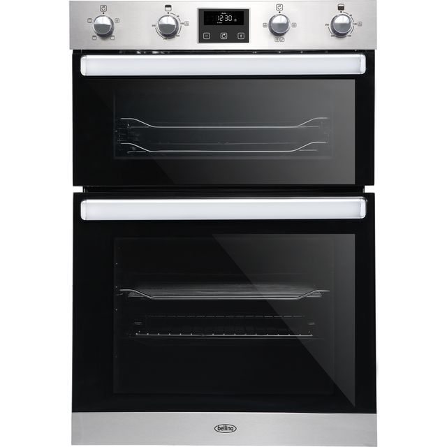 Belling BI902FP Built In Double Oven - Stainless Steel - A/A Rated - BI902FP_SS - 1