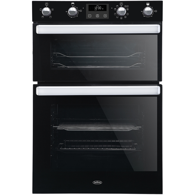 Belling BI902MFCT Built In Double Oven - Black - A/A Rated - BI902MFCT_BK - 1