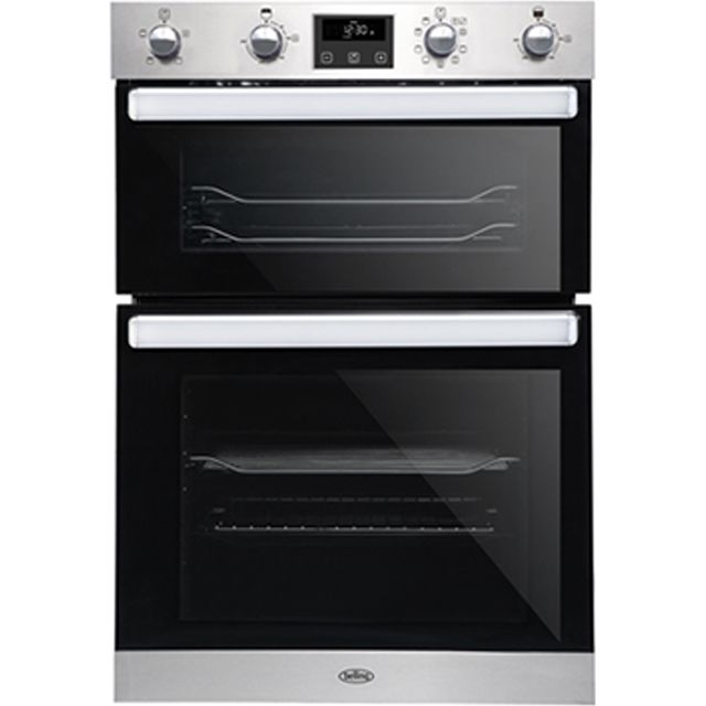 Belling BI902MFCT Built In Electric Double Oven - Stainless Steel - BI902MFCT_SS - 1