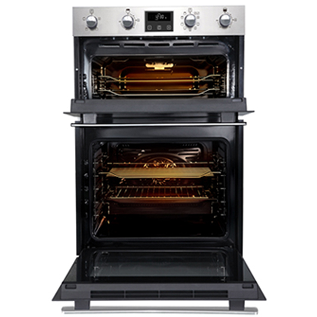 Belling BI902MFCT Built In Double Oven - Stainless Steel - BI902MFCT_SS - 3