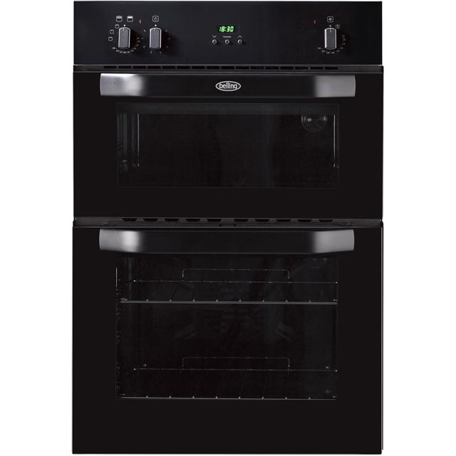 Belling Built In Double Oven - Black - A/B Rated