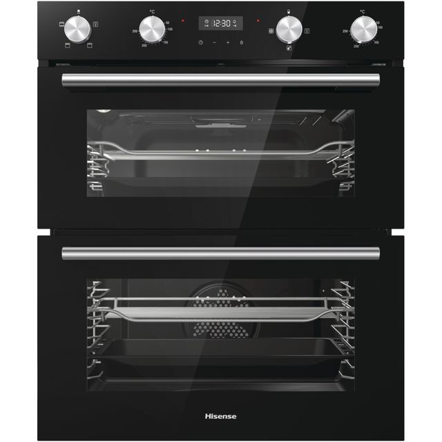 Hisense BID75211BGUK Built Under Double Oven - Black - BID75211BGUK_BK - 1