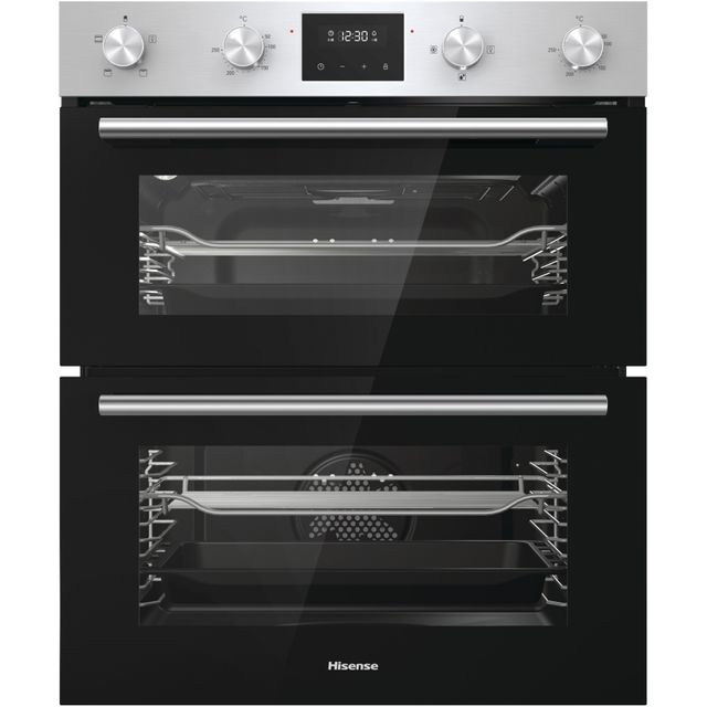 Hisense BID75211XUK Built Under Double Oven - Stainless Steel - BID75211XUK_SSL - 1