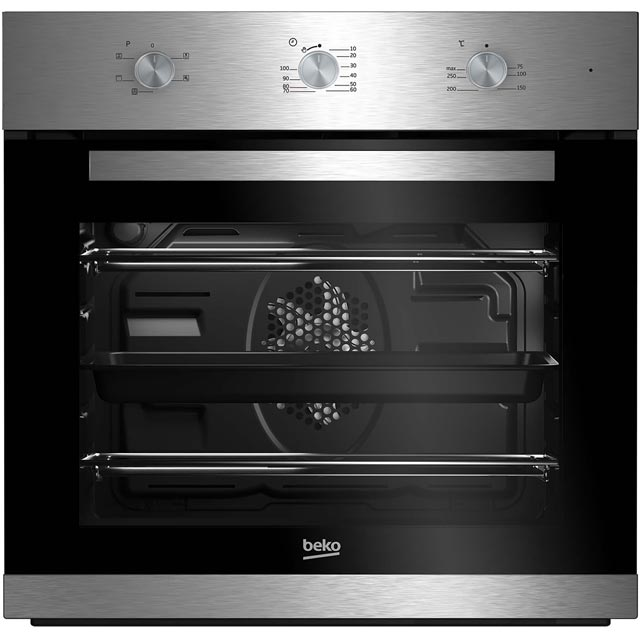 Beko EcoSmart BIF22100X Built In Electric Single Oven - Stainless Steel - A Rated - BIF22100X_SS - 1