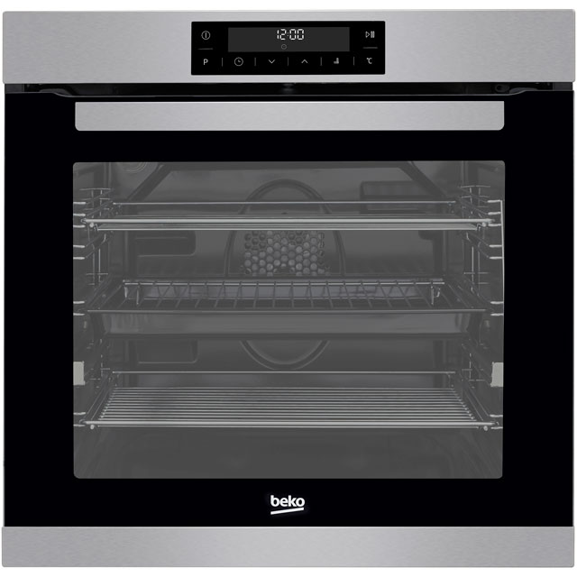 Beko BIM32400XP Built In Electric Single Oven - Stainless Steel - A Rated - BIM32400XP_SS - 1