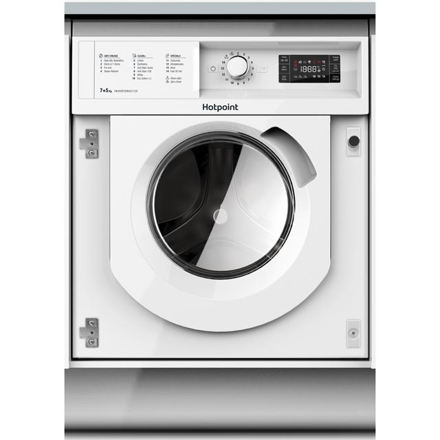 Hotpoint BIWDHG7148 Built In 7Kg / 5Kg Washer Dryer - White - BIWDHG7148_WH - 1