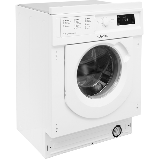 Hotpoint BIWDHG7148 Built In 7Kg / 5Kg Washer Dryer - White - BIWDHG7148_WH - 2