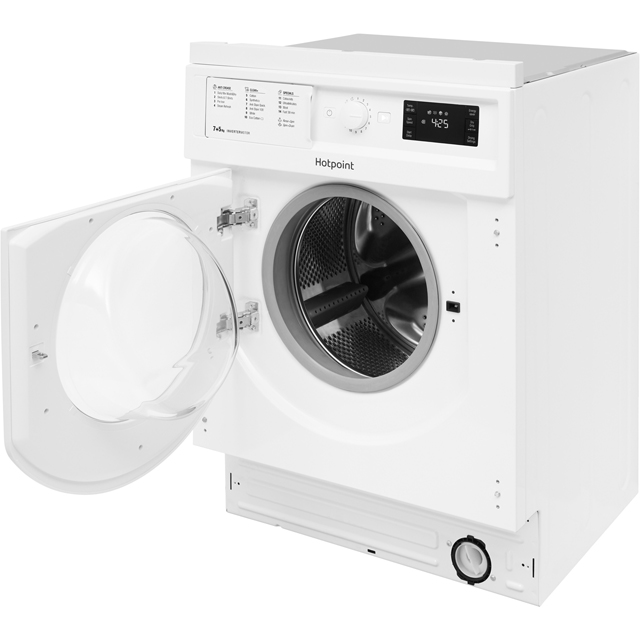 Hotpoint BIWDHG7148 Built In 7Kg / 5Kg Washer Dryer - White - BIWDHG7148_WH - 4