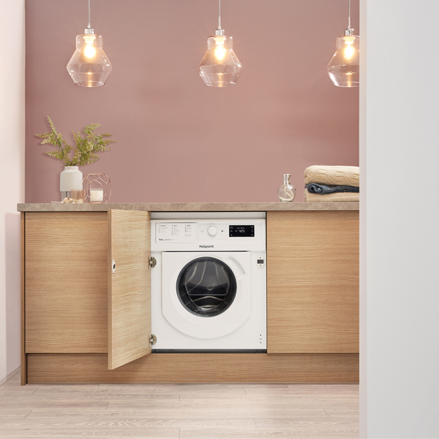 Hotpoint BIWDHG7148 Built In 7Kg / 5Kg Washer Dryer - White - BIWDHG7148_WH - 5