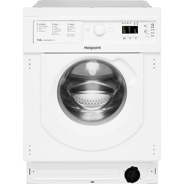 Image of Hotpoint BIWDHG75148UKN Integrated 7Kg / 5Kg Washer Dryer with 1400 rpm - White - B Rated