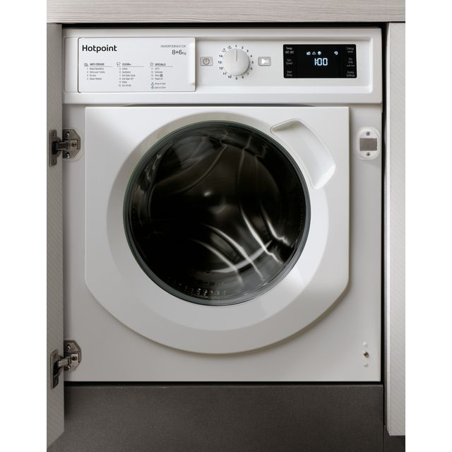 Hotpoint BIWDHG861484UK Integrated 8Kg / 6Kg Washer Dryer with 1400 rpm - White - A Rated