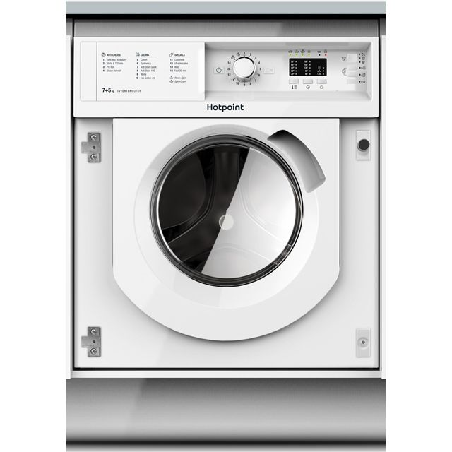 Hotpoint BIWDHL7128 Integrated 7Kg / 5Kg Washer Dryer with 1200 rpm - B Rated - BIWDHL7128_WH - 1