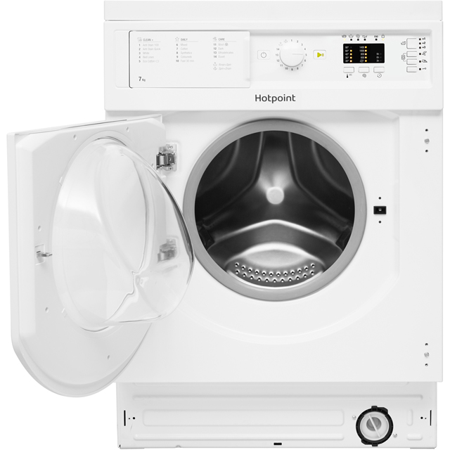 Image of Hotpoint BIWDHL7128 Integrated 7Kg / 5Kg Washer Dryer with 1200 rpm - White - B Rated