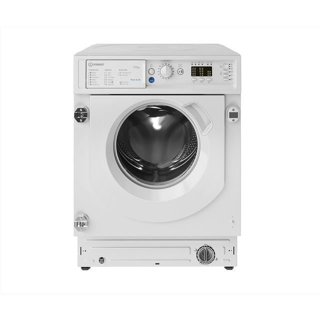 Indesit BIWDIL75125UKN Integrated 7Kg / 5Kg Washer Dryer with 1200 rpm - White - F Rated