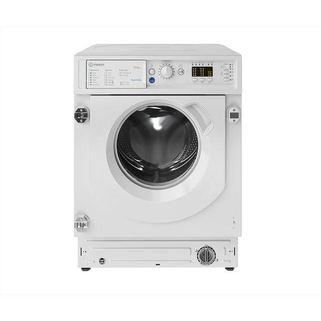Indesit BIWDIL75125UKN Push&Go 7kg Wash 5kg Dry Integrated Washer Dryer