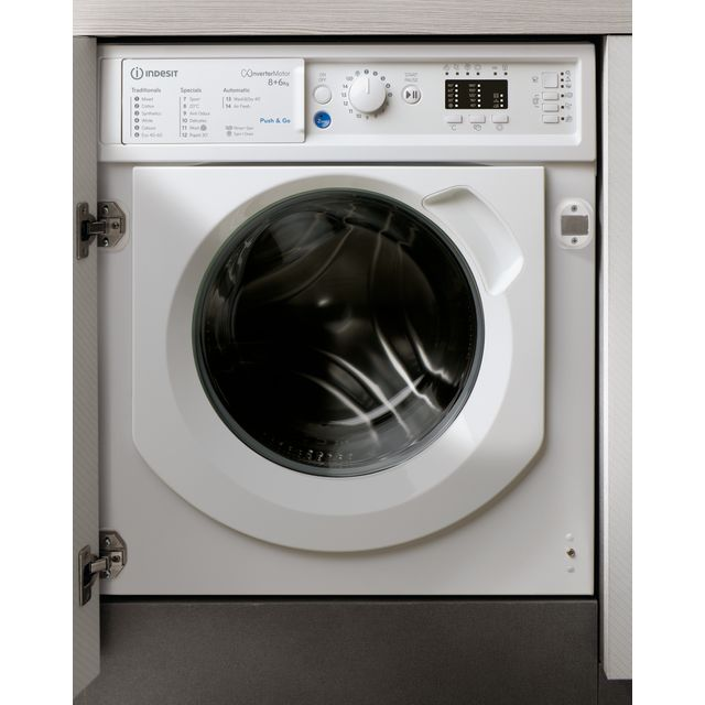 Indesit BIWDIL861284UK Integrated 8Kg / 6Kg Washer Dryer with 1200 rpm - BIWDIL861284UK_WH - 1