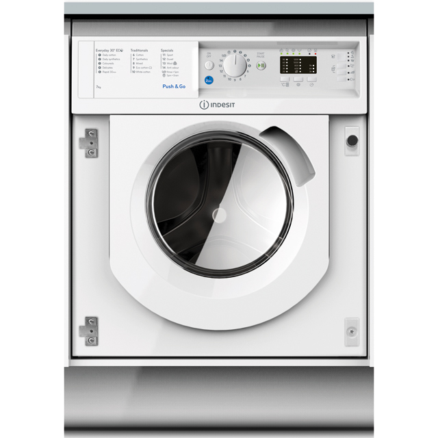 Indesit BIWMIL71252 Built In Washing Machine - White - BIWMIL71252_WH - 1