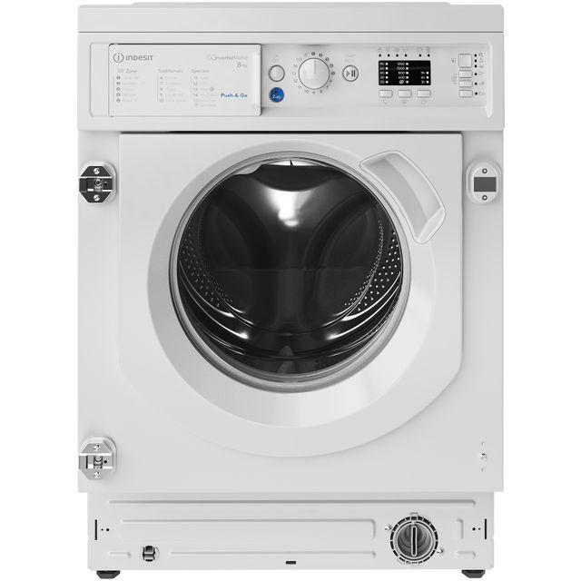 Indesit BIWMIL81284UK Integrated 8Kg Washing Machine with 1200 rpm - White - C Rated