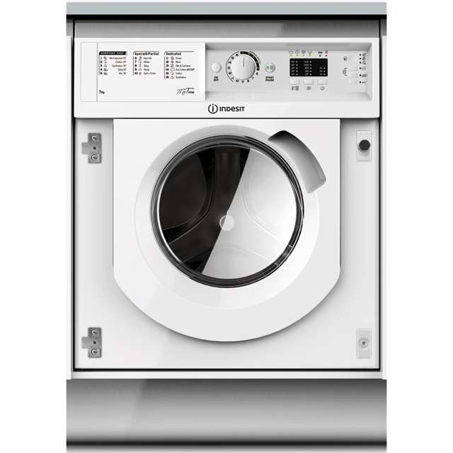Indesit BIWMML71452 Integrated 7Kg Washing Machine with 1400 rpm - A++ Rated - BIWMML71452_WH - 1