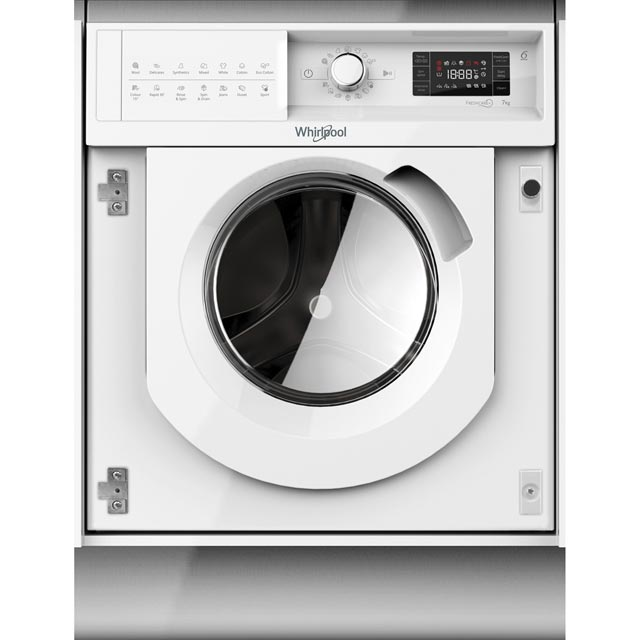 Whirlpool BIWMWG71484UK Integrated 7Kg Washing Machine with 1400 rpm - A+++ Rated - BIWMWG71484UK_WH - 1