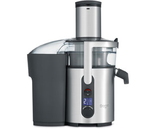 Sage By Heston Blumenthal The Nutri Juicer Plus BJE520UK Centrifugal Juicer - Brushed Steel