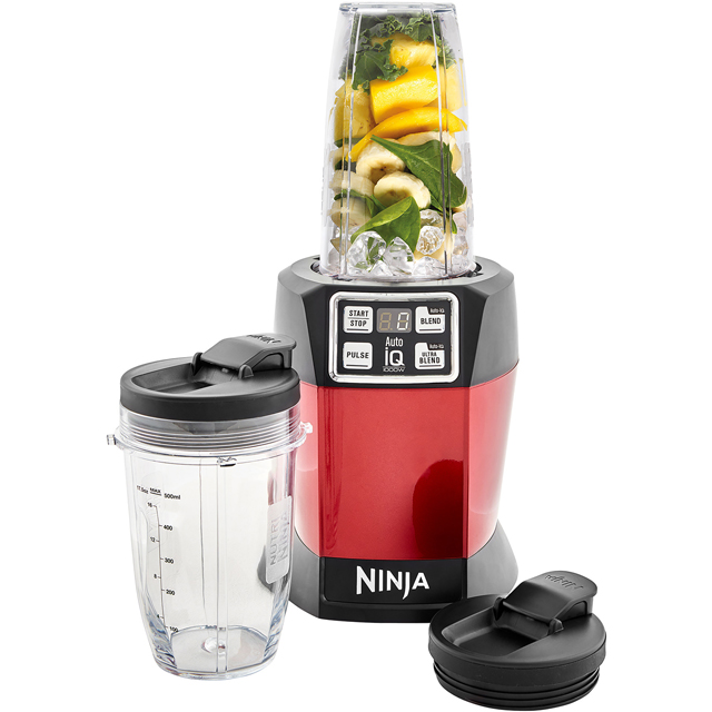 Ninja BL480UKMR Smoothie Maker with 2 Drink Containers - Metallic Red - BL480UKMR_MRD - 1