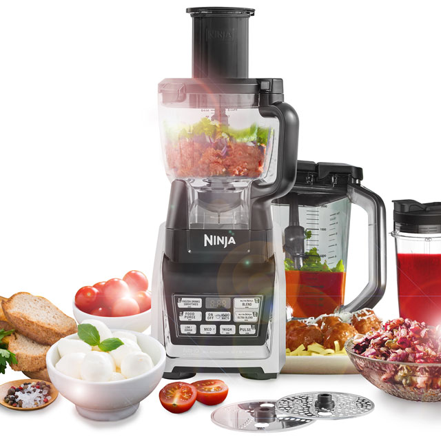 Ninja BL682UK2 2.1 Litre Food Processor With 16 Accessories - Silver - BL682UK2_SI - 1