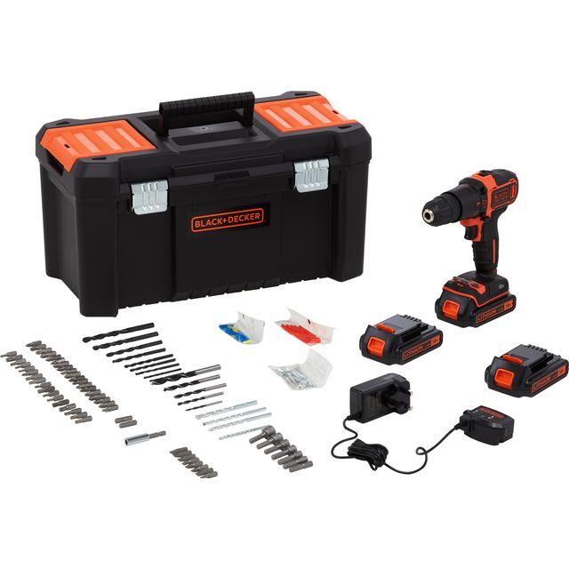 Black + Decker BDCHD181B3A-GB Hammer Drill Including Accessories