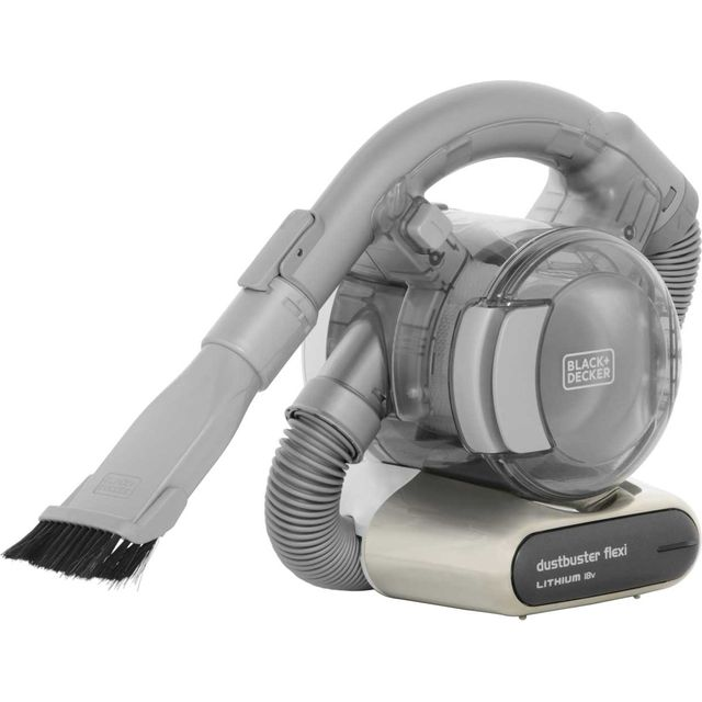 Black + Decker 18v Flexi Dustbuster� with Floor Extension PD1820LF-GB Handheld Vacuum Cleaner with up to 15 Minutes Run Time