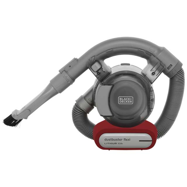 Black + Decker 10.8v Flexi Dustbuster PD1020L-GB Handheld Vacuum Cleaner - Silver - PD1020L-GB_SI - 1