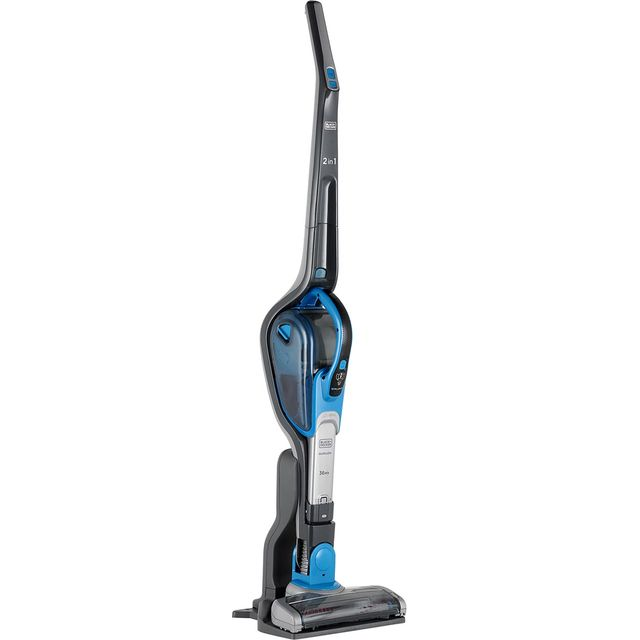 Black & Decker 2 in 1 Cordless Vac With smart tech SVJ520BFS-GB Cordless Vacuum Cleaner in Titanium / Blue