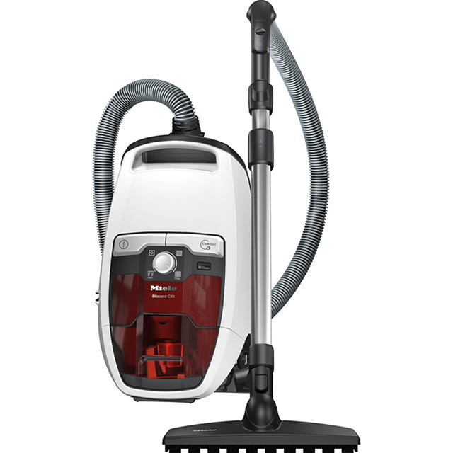 Miele Blizzard Jubilee Cylinder Vacuum Cleaner in White / Red
