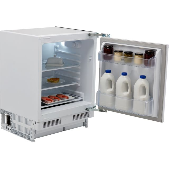Beko BLSF3682 Integrated Under Counter Fridge - Fixed Door Fixing Kit - White - F Rated