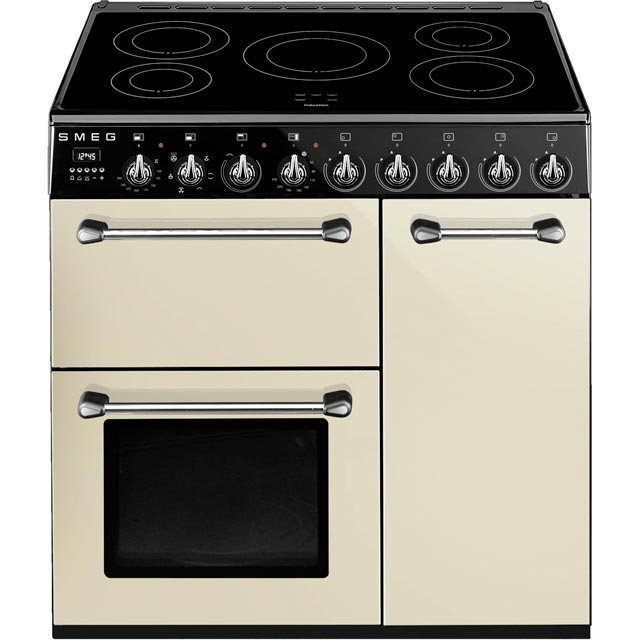 Smeg Blenheim BM93iP 90cm Electric Range Cooker with Induction Hob - Cream - A/B Rated - BM93iP_CR - 1