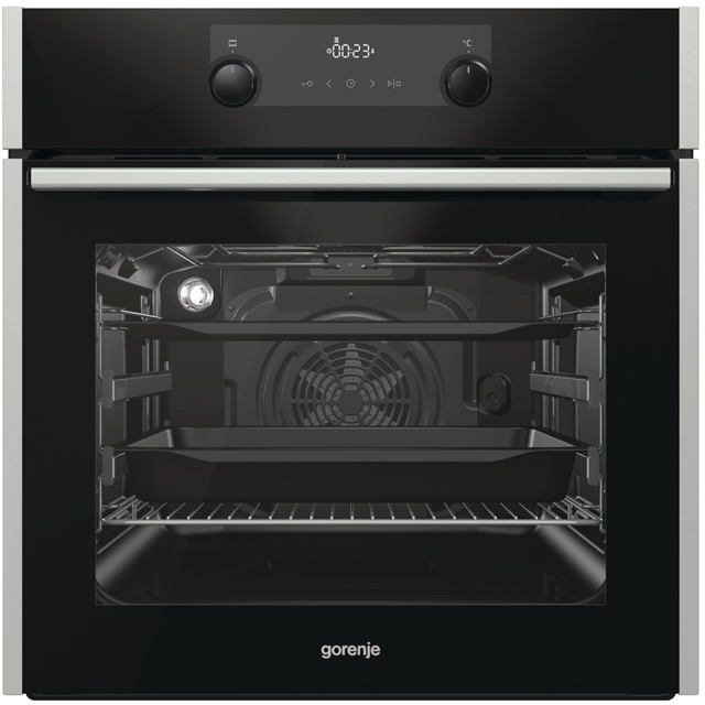 Gorenje BO737E30XG Built In Electric Single Oven - Black - A Rated - BO737E30XG_BK - 1